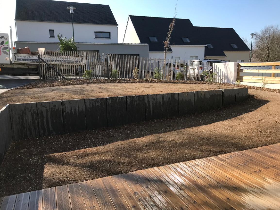 Aménagement d'un jardin enpente